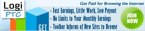 LogiPTC Reklam Tıklayarak Para Kazanma Sitesi